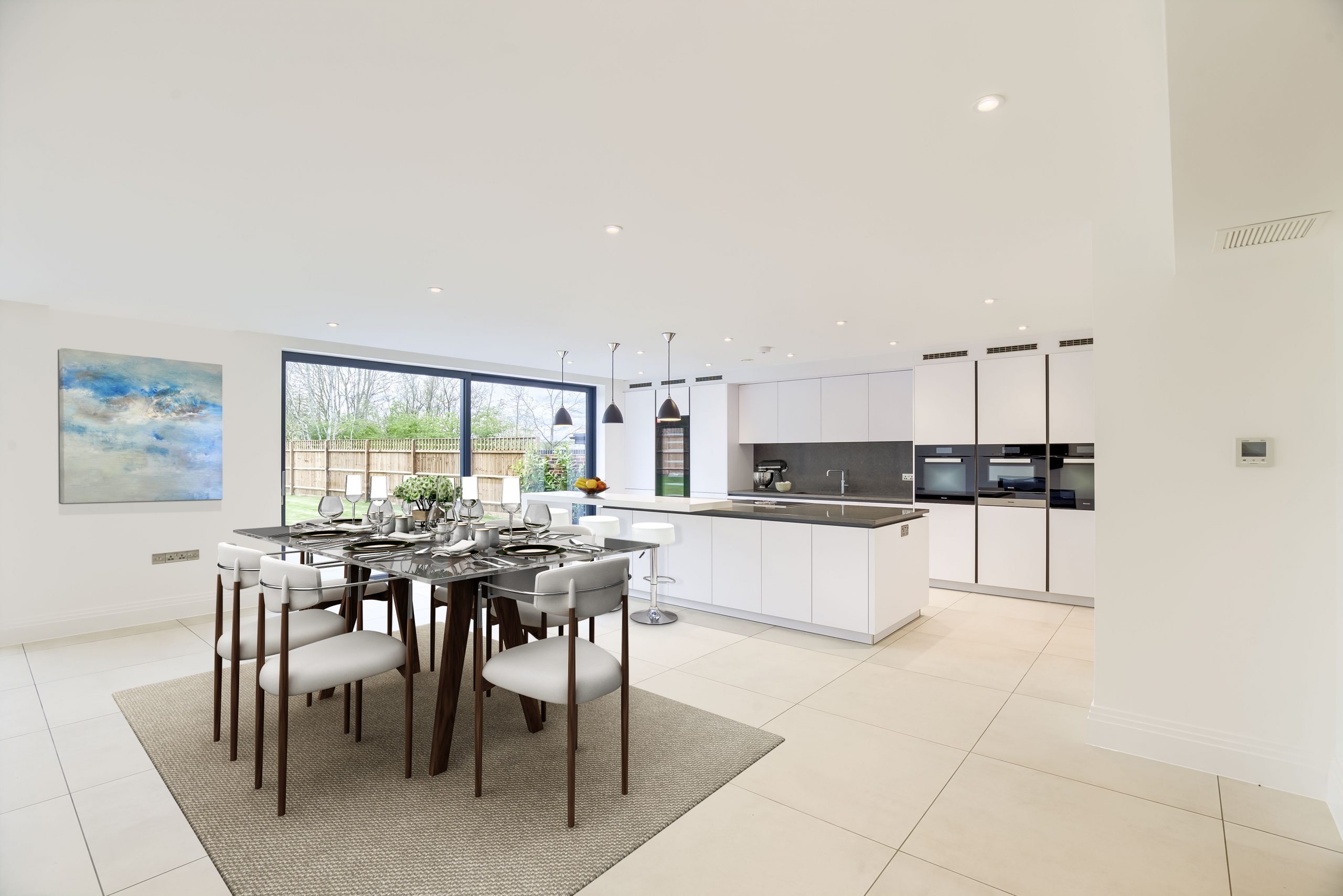 sliding doors kitchen