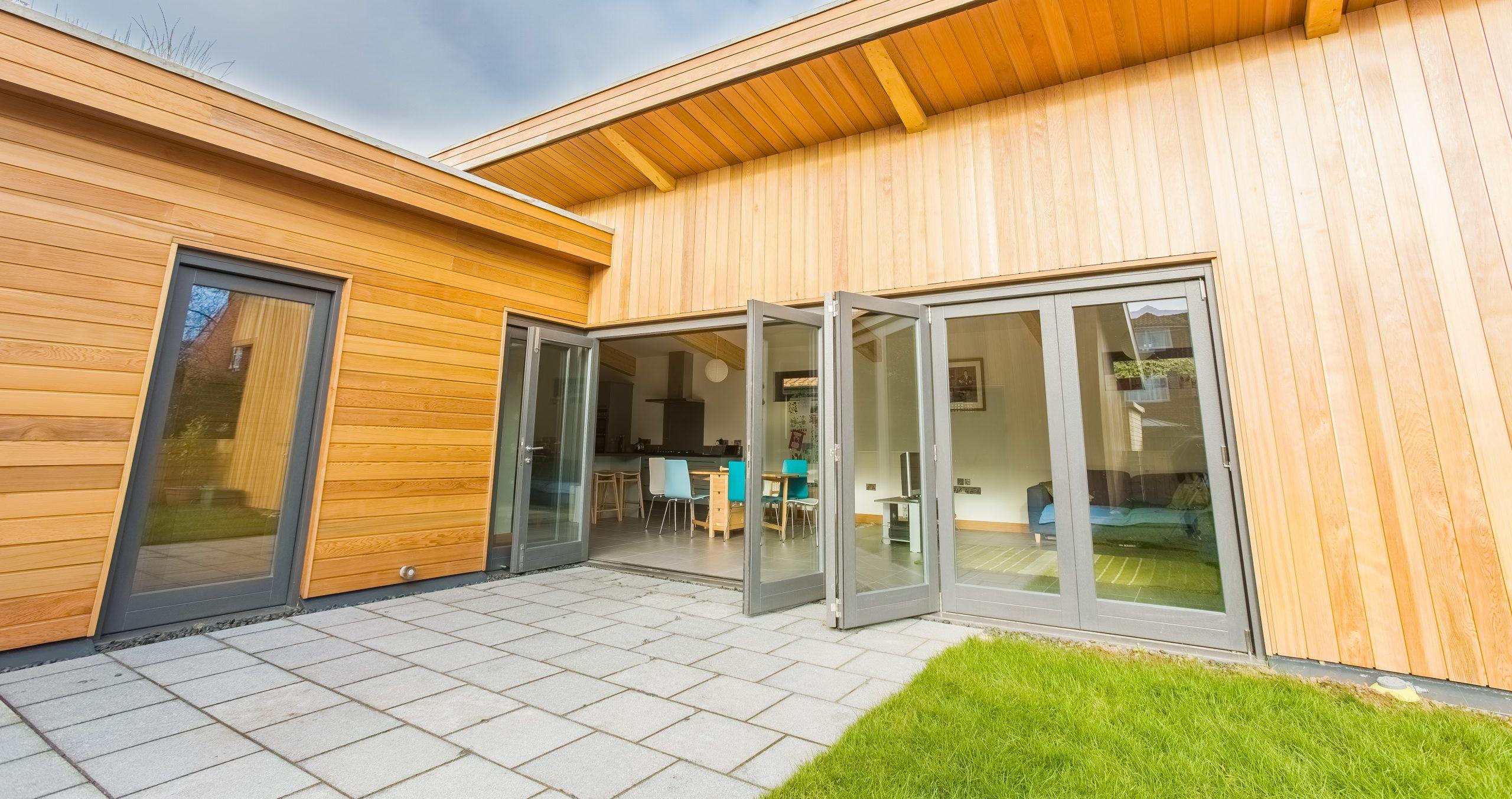 best patio door material timber